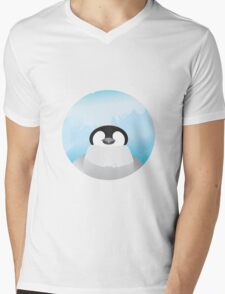 Simplistic Penguin Mens V-Neck T-Shirt