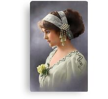 Colorized Vintage Young Beauty III Canvas Print