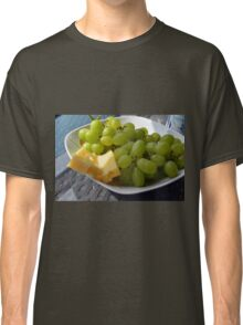 Yellow grapes and cheese. Classic T-Shirt