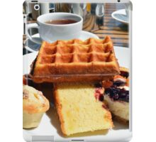 Plate with different types of sweets. iPad Case/Skin