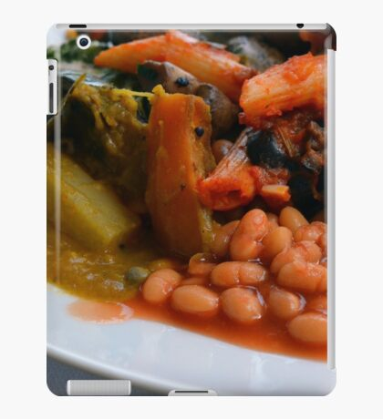 Lunch full plate with beans, vegetables, pasta. iPad Case/Skin