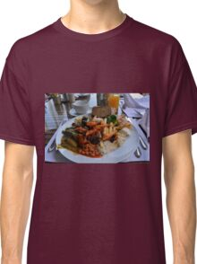 Lunch full plate with beans, vegetables, pasta. Classic T-Shirt