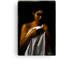Girl in a towel Canvas Print