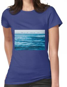 Mooloolaba beach at dusk Womens Fitted T-Shirt