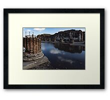 Reflecting on Ancient Pompeii - Unusual View After a Rainstorm Framed Print