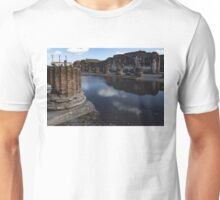 Reflecting on Ancient Pompeii - Unusual View After a Rainstorm Unisex T-Shirt