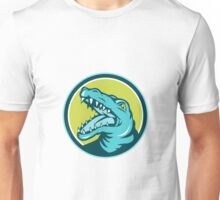 Angry Alligator Head Snout Circle Retro Unisex T-Shirt