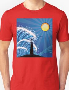 Lighthouse in the Sea Unisex T-Shirt