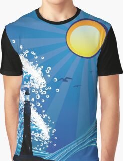 Lighthouse in the Sea Graphic T-Shirt