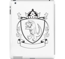 Alligator Standing Coat of Arms Black and White iPad Case/Skin