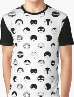 Black and White faces and masks Graphic T-Shirt