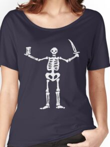 Black Sails Pirate Flag White Skeleton Women's Relaxed Fit T-Shirt