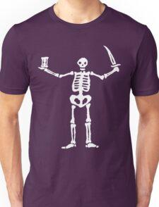 Black Sails Pirate Flag White Skeleton Unisex T-Shirt