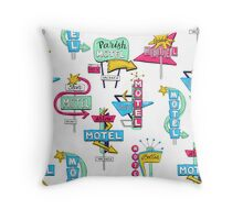 Motel signs Throw Pillow