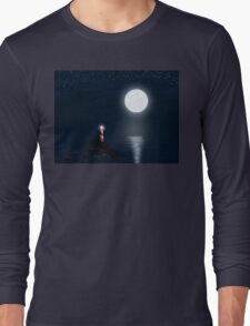 Lighthouse and Full Moon Long Sleeve T-Shirt