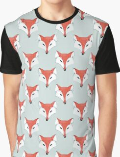 Fox Pattern on Sage  Graphic T-Shirt