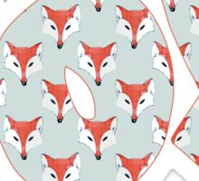 Fox Pattern on Sage  Sticker