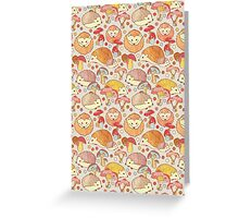 Woodland Hedgehogs - a pattern in soft neutrals  Greeting Card