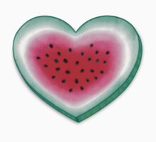 Summer Love - Watermelon Heart One Piece - Long Sleeve