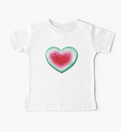 Summer Love - Watermelon Heart Baby Tee