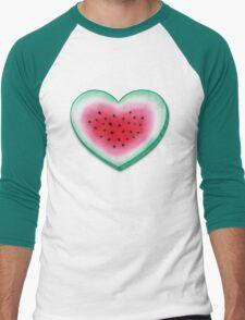 Summer Love - Watermelon Heart Men's Baseball ¾ T-Shirt