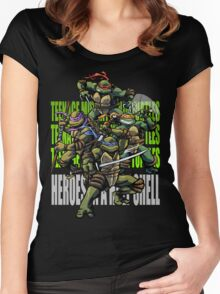 TURTLE POWER! Women's Fitted Scoop T-Shirt