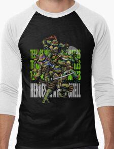 TURTLE POWER! Men's Baseball ¾ T-Shirt