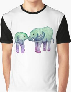 Baby Elephant Love Graphic T-Shirt