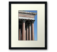 portico and columns Framed Print