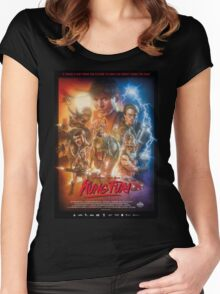 Kung Fury Poster Art Women's Fitted Scoop T-Shirt