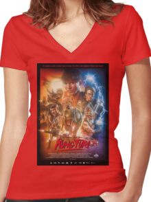 Kung Fury Poster Art Women's Fitted V-Neck T-Shirt