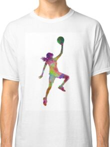 young woman basketball player 02 Classic T-Shirt