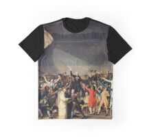 Tennis Court Oath -  Jacques Louis David - French Revolution - 1794 Graphic T-Shirt
