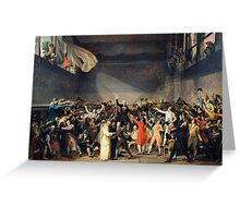 Tennis Court Oath -  Jacques Louis David - French Revolution - 1794 Greeting Card
