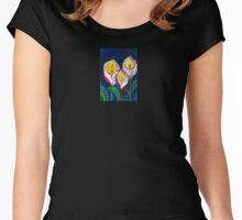 Transparent Lilies (original drawing) Women's Fitted Scoop T-Shirt
