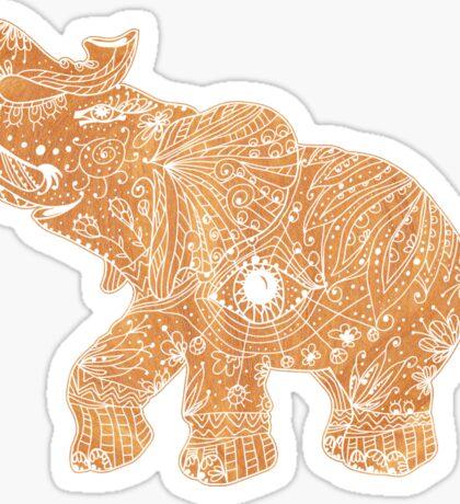 gold lucky  elephant Sticker