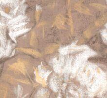 """White roses"", pastel drawing, life sketch Sticker"