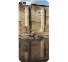 Reflecting on Ancient Pompeii - Basilica Marble Columns Symmetry iPhone Case/Skin