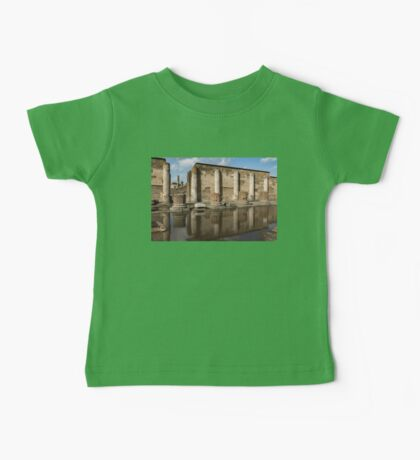 Reflecting on Ancient Pompeii - Basilica Marble Columns Symmetry Baby Tee