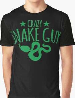 Crazy Snake Guy  Graphic T-Shirt