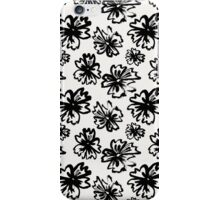 Monochrome Floral 1 iPhone Case/Skin