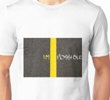 Concept image of word IMPOSSIBLE Unisex T-Shirt