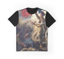 Liberty Leading the People - 1830 - Eugène Delacroix - French Revolution Graphic T-Shirt