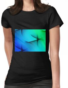 abstract spirograph background Womens Fitted T-Shirt