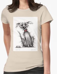 Fuzzy dog Womens Fitted T-Shirt