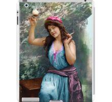 Colorized Fitz Guerin's Lady Liberine 1902 version I iPad Case/Skin