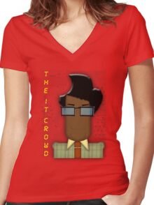 it crowd tee Women's Fitted V-Neck T-Shirt