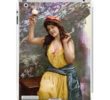 Colorized Fitz Guerin's Lady Liberine 1902 version II iPad Case/Skin
