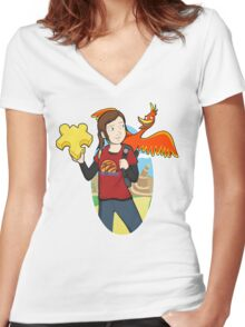 Ellie & Kazooie going on an Adventure. Women's Fitted V-Neck T-Shirt