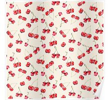 Cherry Pattern Poster